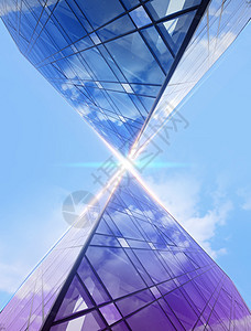 城市建筑发射信息交互传递图片