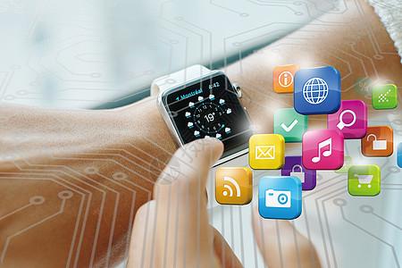 时尚科技的智能手表图片