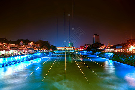 数码科技电路商业联系与建筑图片