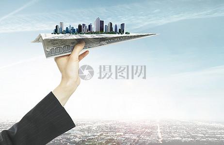 升值空间大房地产广告背景图片