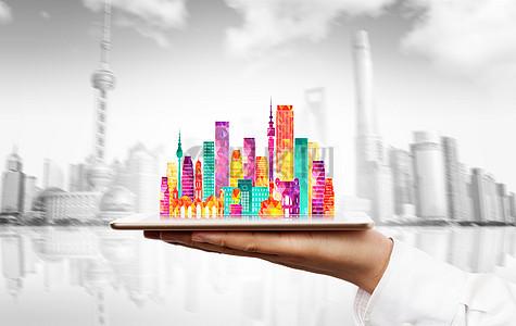 七彩城市上海图片