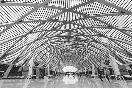 火车站内景拍摄图片