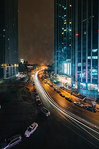 天津海河沿岸夜景图片