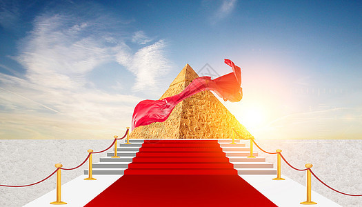金砖红毯上的金山图片