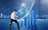 箭头指数商务背景图片