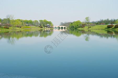 扬州湖美景图片