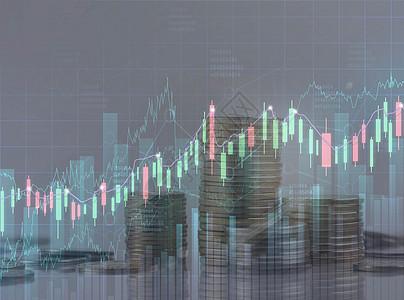 股市金币上升图片