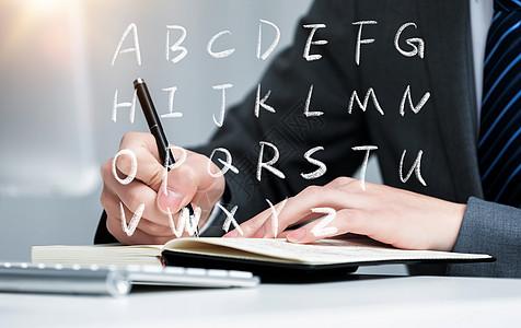 手写英文字母图片