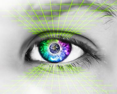 眼睛瞳孔扫描识别图片