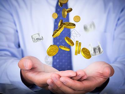 魔术手浮空钱图片