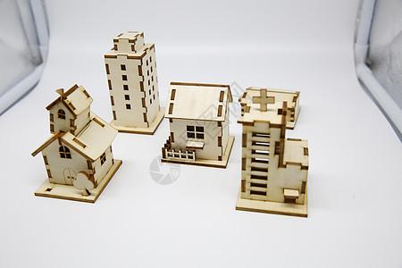激光切割建筑模型图片