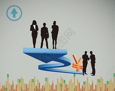 商业金融概念剪影素材图片