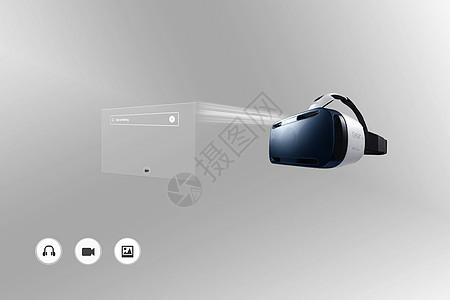 VR眼镜扁平界面图片