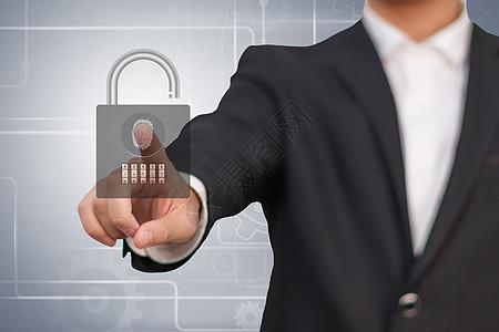 商务科技指纹密码锁图片