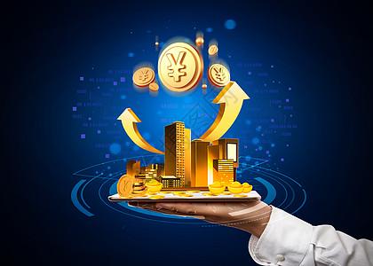 金融科技未来商务生活图片