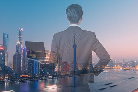 商务人士合城市图片