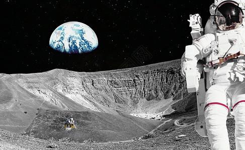 宇航员登月图片