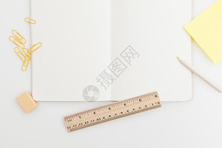 文具留白背景图片