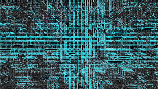蓝色抽象未来科技背景图片