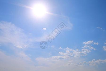 午正蓝天图片