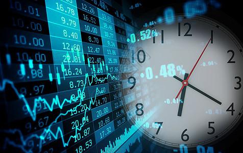 透过时钟看股市图片