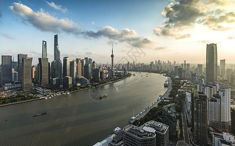 北外滩黄浦江日落图片