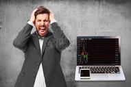 商务人士对股市抓狂图片