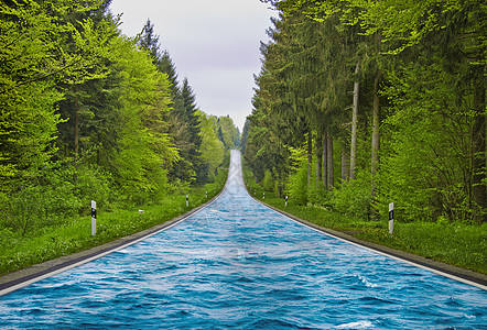 海上水面上的公路图片