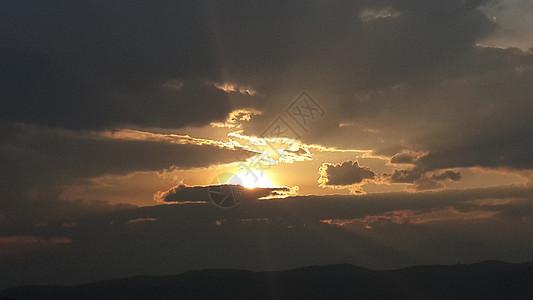 高原上看夕阳图片