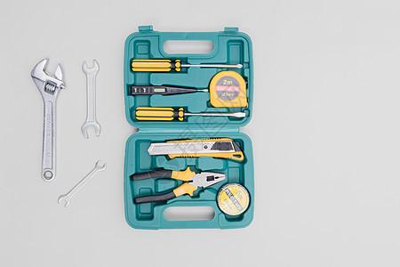维修工具箱开箱白底留白图片