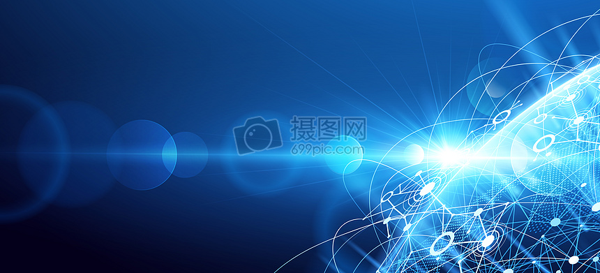 蓝色素材地球炫酷背景图片