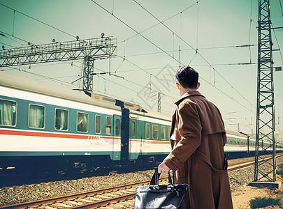 上火车的人图片