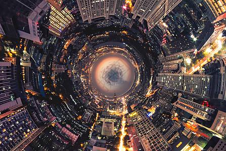 世界末日效果城市高楼图片