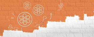 抽象橙子背景墙面图片