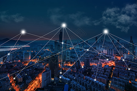 城市建筑科技感夜景图片
