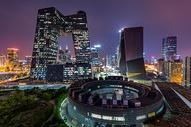 CCTV大楼建筑夜景图片