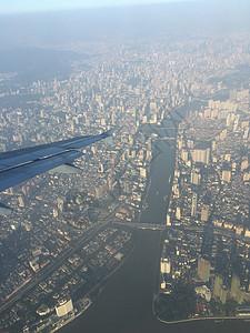 高空看广州珠江两岸图片