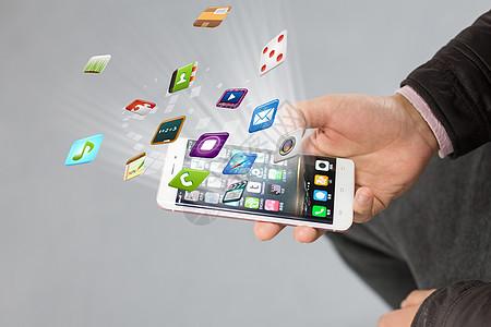 手上的科技生活图片