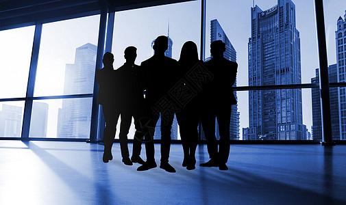 城市中的商务团队图片