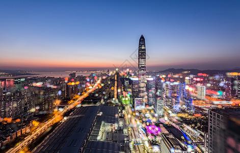 亦真亦幻的深圳夜景图片
