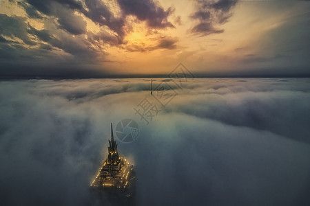 魔都平流雾图片