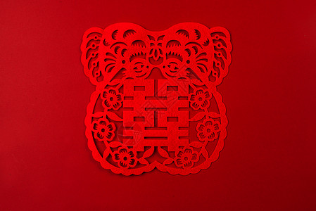 春节中国红福福字图片