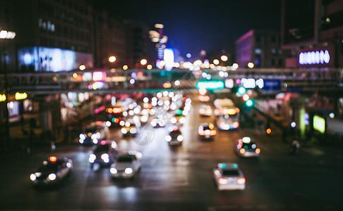 夜景车流背景图片