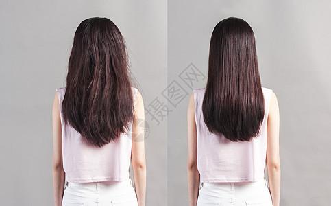 头发对比图片