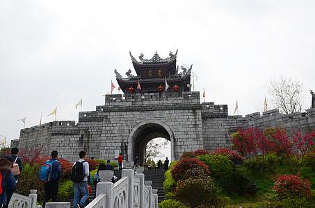 青岩古镇北门城楼图片