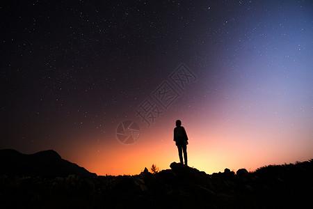 一个人的星空图片