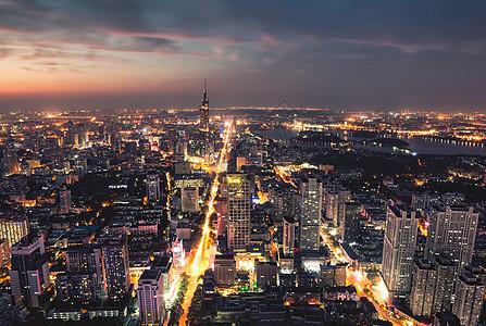 南京城市夜景图片
