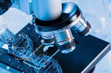 科技感显微镜研究图片