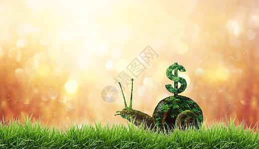 蜗牛驮着会长钱的房子图片