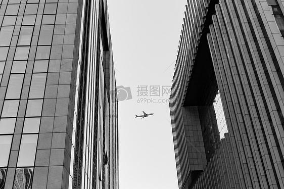 飞机建筑创意纪实摄影图片